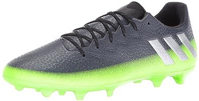 buy online cb48d 4e1a6 adidas Men s Messi 16.3 fg Soccer Shoe Dark Grey Metallic Silver Neon Green  10