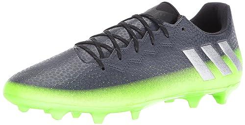 buy online 73758 f5b7d adidas Men s Messi 16.3 fg Soccer Shoe Dark Grey Metallic Silver Neon Green  10