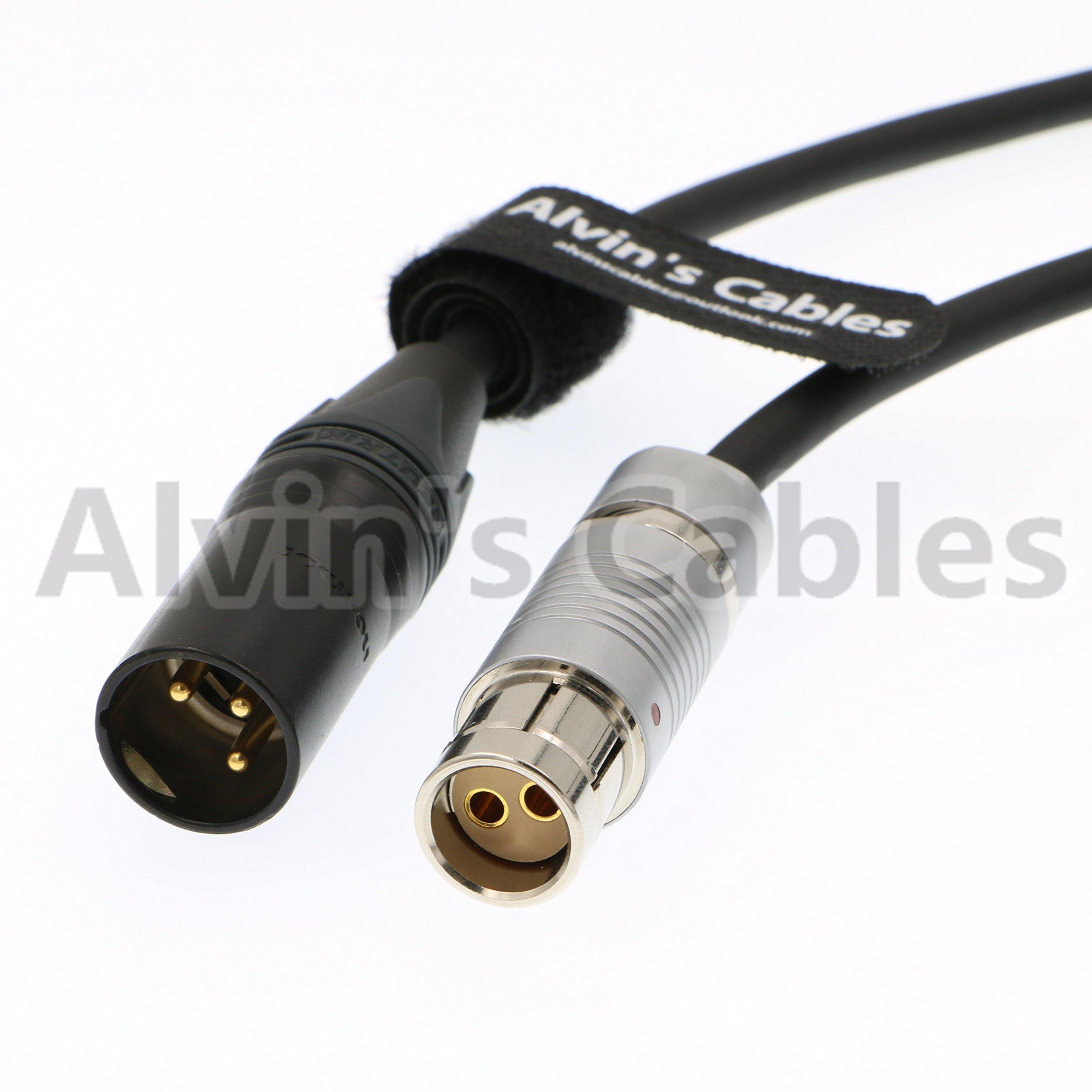 Alvin's Cables ARRI Alexa XT SXT Cameras Power Cable Fischer 2 pin Female to XLR 3 pin Male