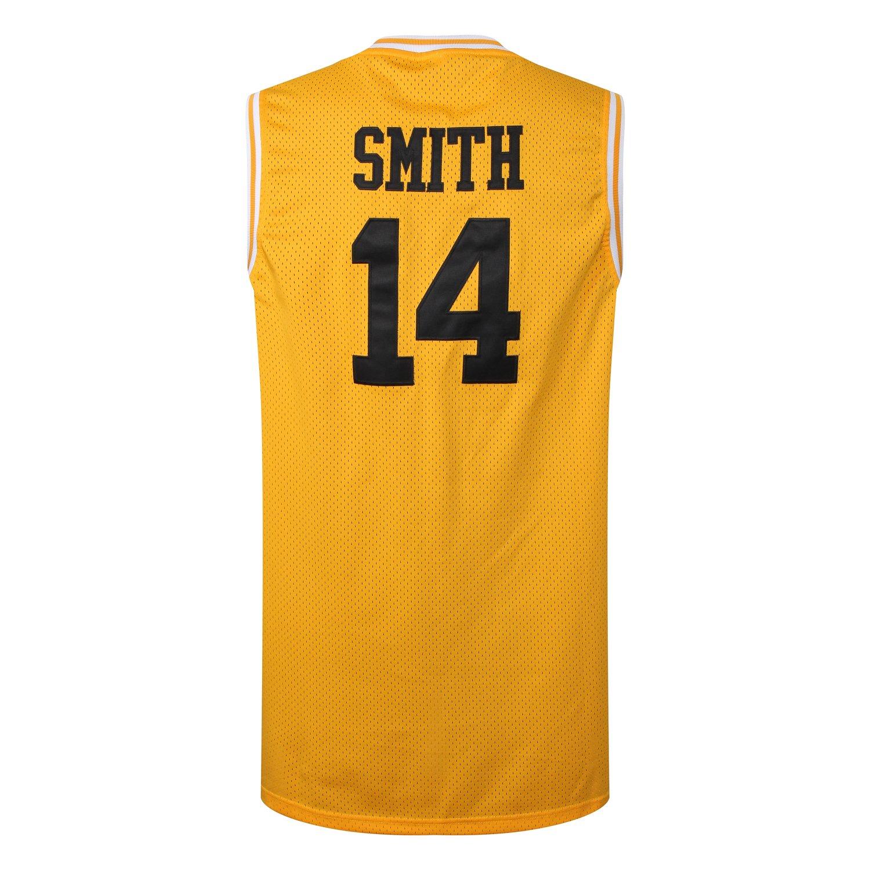 Amazon.com  MM MASMIG Will Smith 14 The Fresh Prince of Bel Air Academy  Basketball Jersey S-XXL Yellow (XXL 8870be59a