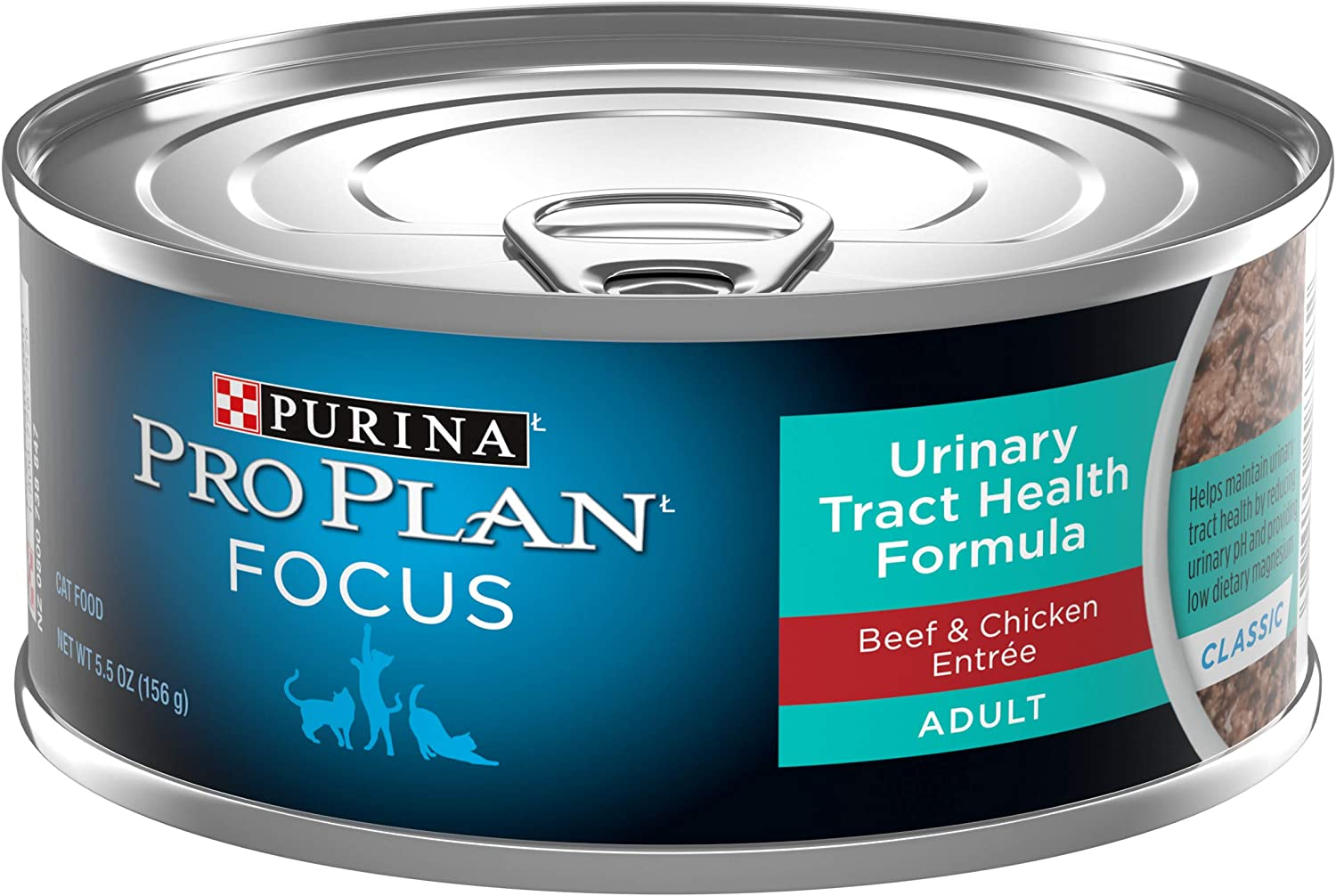 Purina Pro Plan Focus Urinary Tract Health Formula Beef & Chicken Entree in Gravy Adult Wet Cat Food - (24) 5.5 oz. Cans