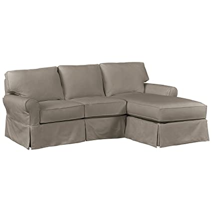 Stone & Beam Carrigan Modern Chaise Sofa Couch with Slipcover, 95\