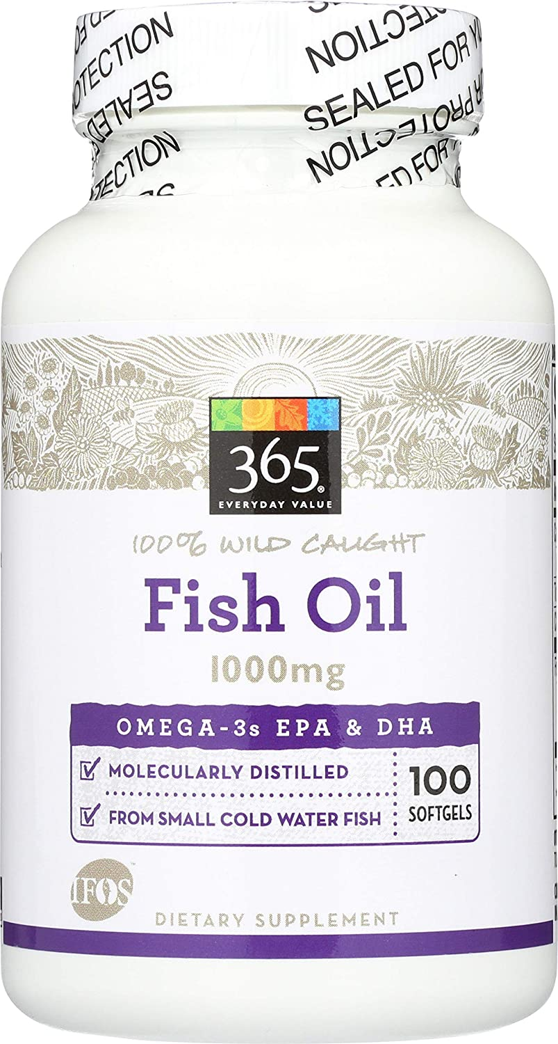 365 Everyday Value, Fish Oil, 100 ct