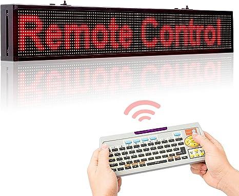 Amazon.com: Leadleds 40 inches color rojo visualización LED ...