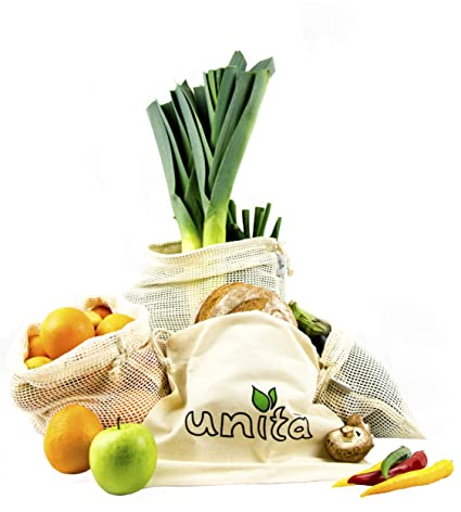 Unita - Bolsas de algodón ecológicas para Frutas y Verduras ...