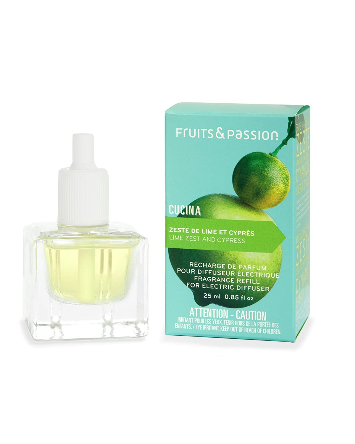 b71f799a77ec Cucina Perfume Refill for Electric Fragrance Diffuser 0.85 Fl. Oz. - Lime  Zest and Cypress
