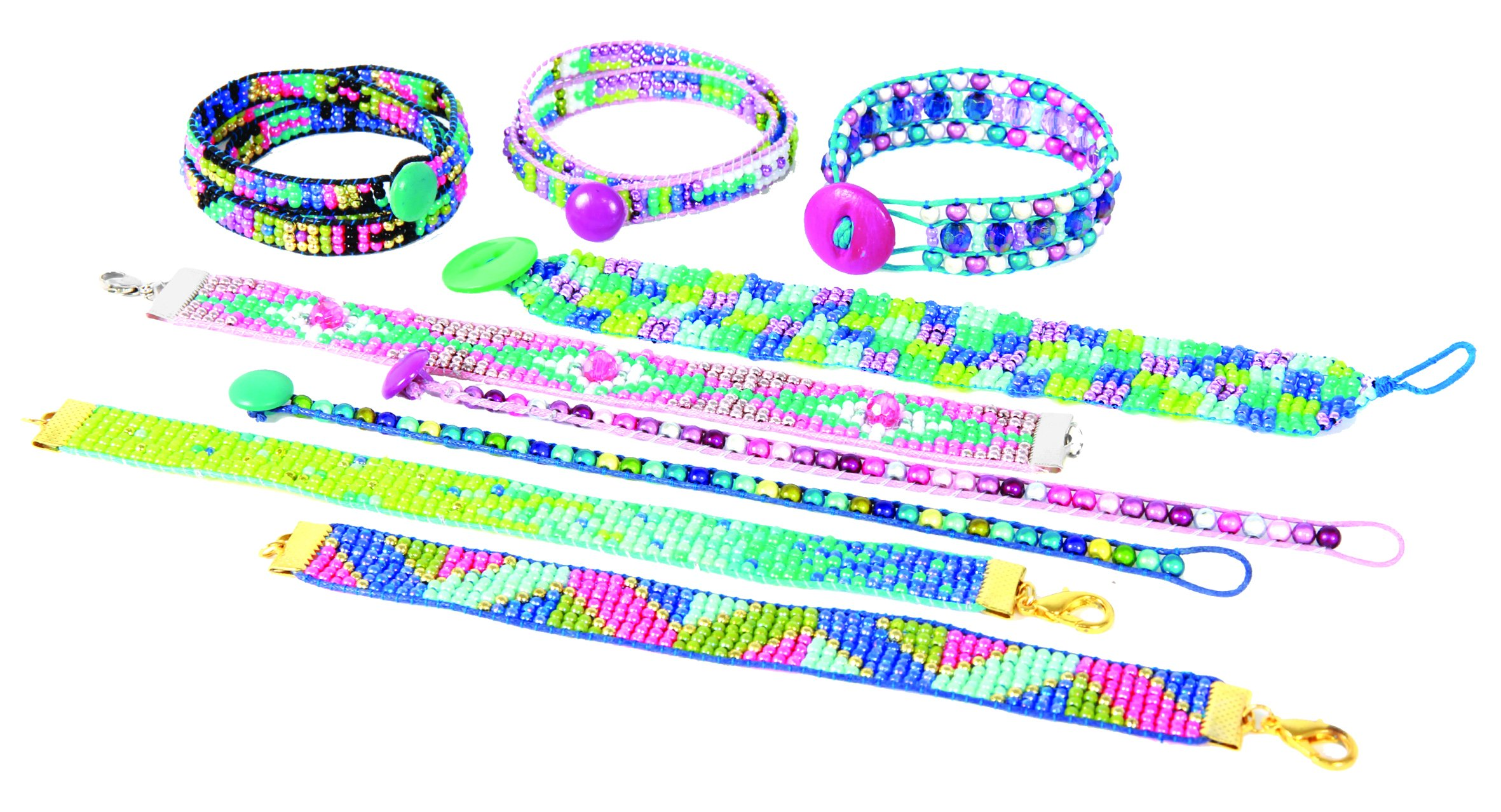 Wooky Entertainment Style Me Up! x -Loom Kit-Adjustable Beads Up to 18'' by Wooky Entertainment (Image #5)