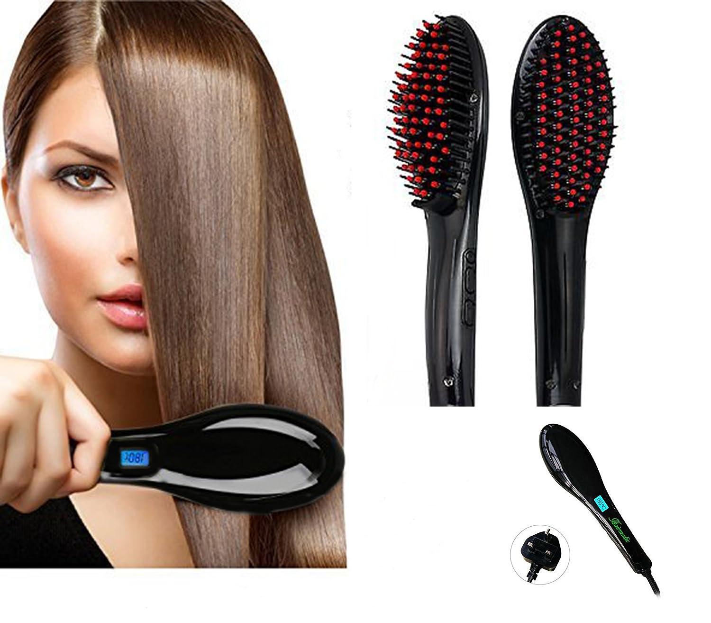 hairmatic 3 en 1 Digital LCD automática cepillo eléctrico alisador para el pelo peine masajeador: Amazon.es: Belleza