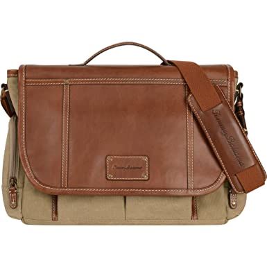 Amazon.com | Tommy Bahama Luggage Casual Messenger Bag, Khaki ...