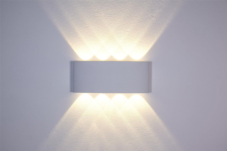 Lampade led da parete interni: maxmer lampada da parete applique da