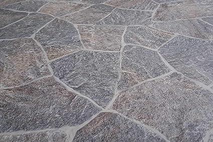 Passatoia in Stile Pietra di Luserna - Lamina multiuso in PVC, utile come  passatoia o per rivestimenti - Larghezza 50cm - Lunghezza al metro - ...