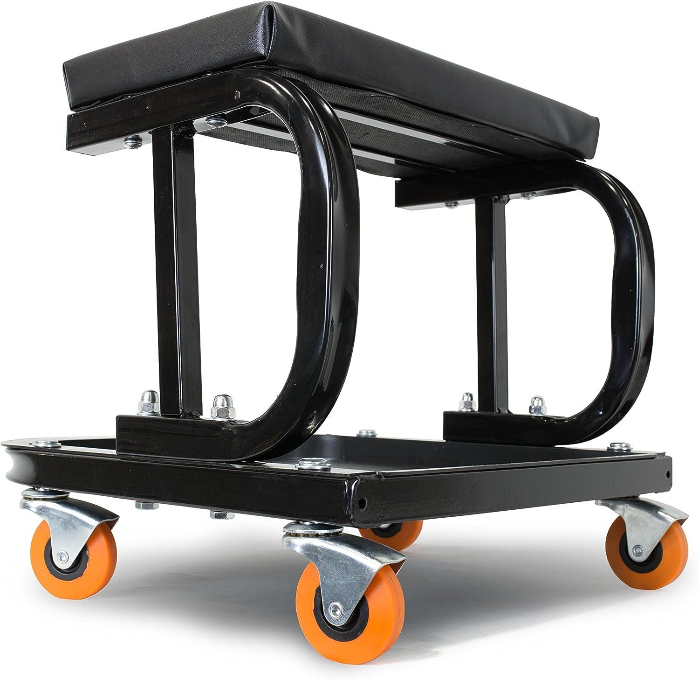 Amazon Com Wen 73011 Rolling Mechanic Seat With Onboard Storage 250 Pound Capacity Automotive
