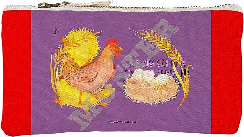 Mr. & Mrs. Panda S Maquillaje Gallina orgullo – 100% fabricado a mano en Alemania – Alemán del Norte, pequeño, estuche, gallina, nacimiento, gallinas, Motivación, maquillaje, País vida, algodón, huevos, maquillaje: Amazon.es: Hogar