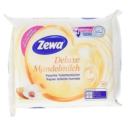 Zewa Deluxe de almendro en leche, 42 toallitas húmedas con
