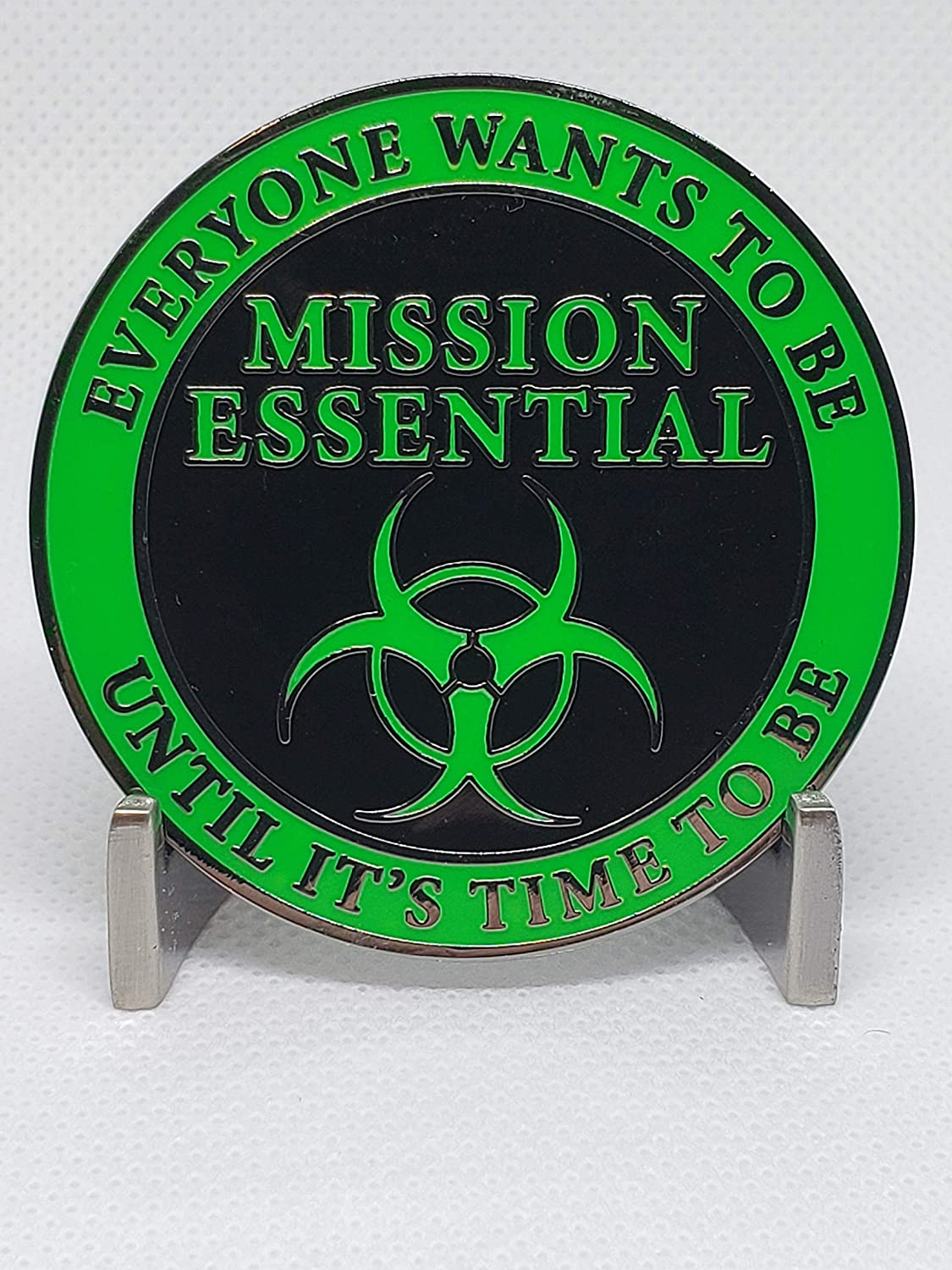 Mission Essential Worker Cluster coronavirus covid-19 Operation Enduring Clusterfuck Glowing Challenge Coin