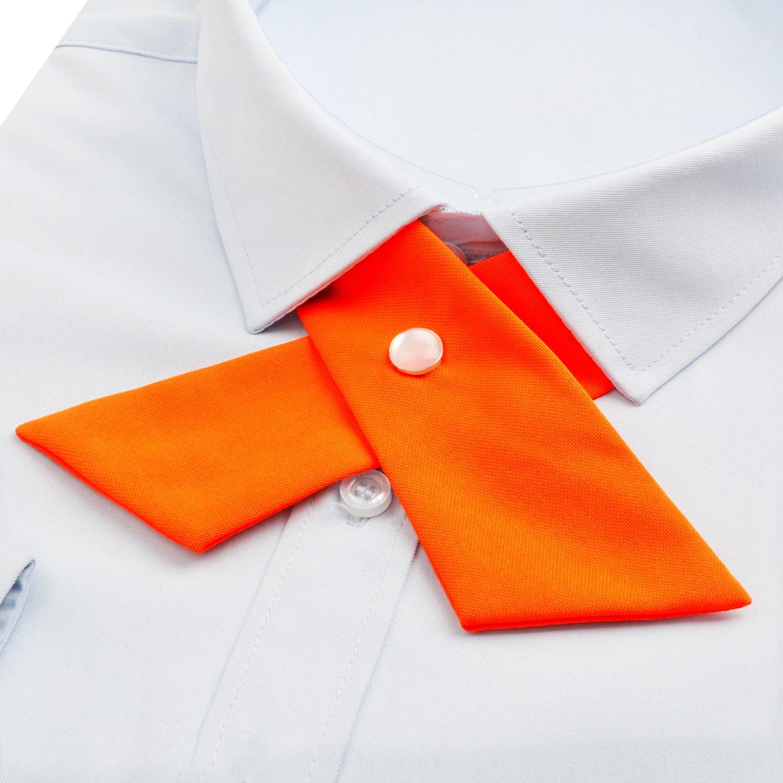 3f2ee16f96da6 Alizeal Nœud Papillon Croisé pour Uniforme pour Homme Femme Fille-Orange:  Amazon.fr: Vêtements et accessoires