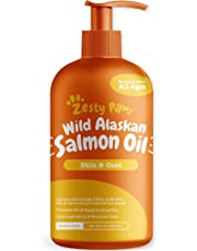 Pure Wild Alaskan Salmon Oil for Dogs & Cats - Supports Joint Function, Immune & Heart Health - Omega 3 Liquid Food Supplement for Pets - Natural EPA + DHA Fatty Acids for Skin & Coat - 32 FL OZ