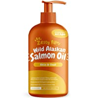 Pure Wild Alaskan Salmon Oil for Dogs & Cats - Supports Joint Function, Immune &...