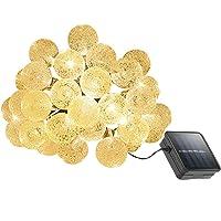 Cymas 22 ft. 30-LED Solar Outdoor Globe String Light