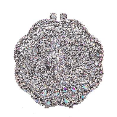 Amazon.com: fawziya 14 cm flor forma pavo real embrague ...