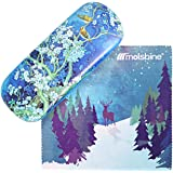 Molshine Retro Light Portable Glasses Case for Reading Glasses (magpie on plum, C)