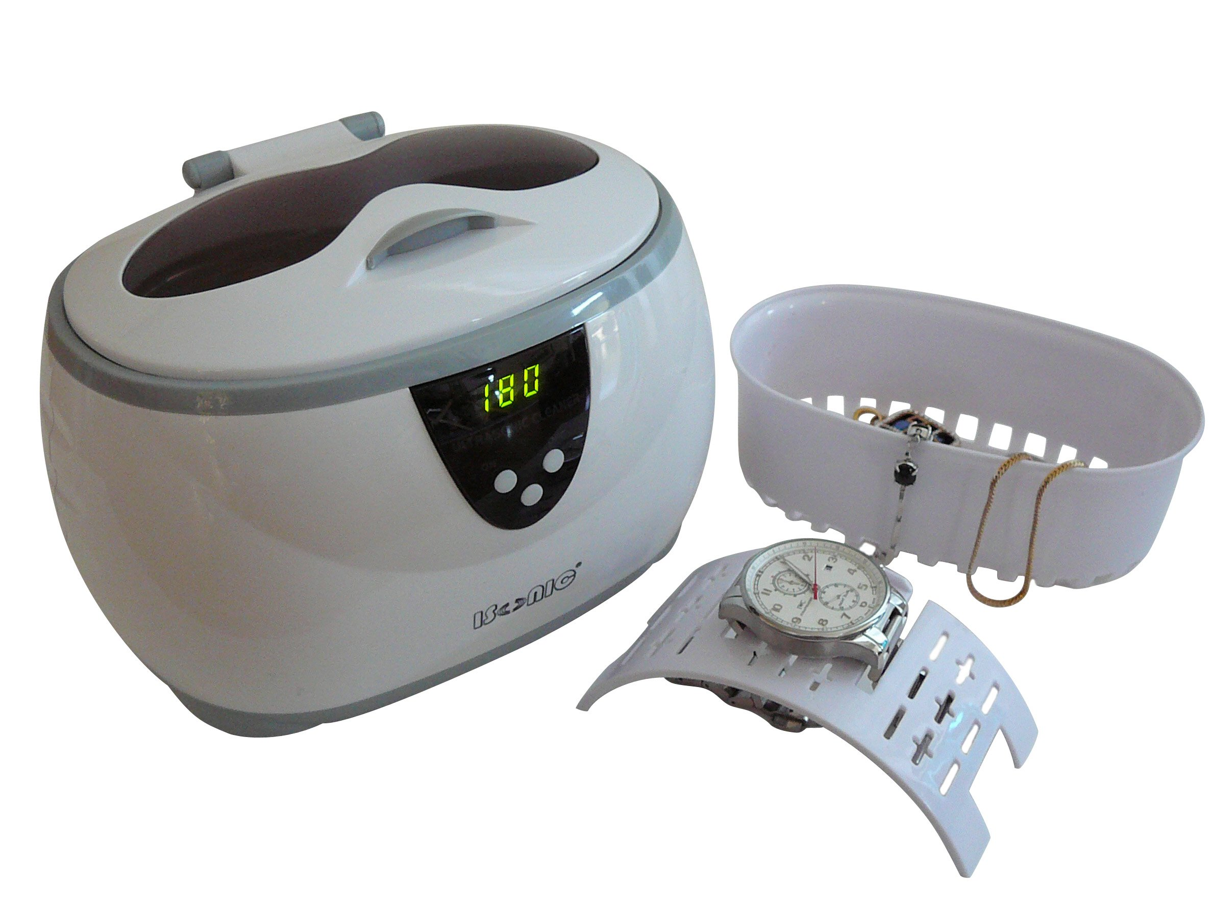 iSonic D3800A Digital Ultrasonic for Jewelry, Eyeglass, and Dentures Cleaner, 110V