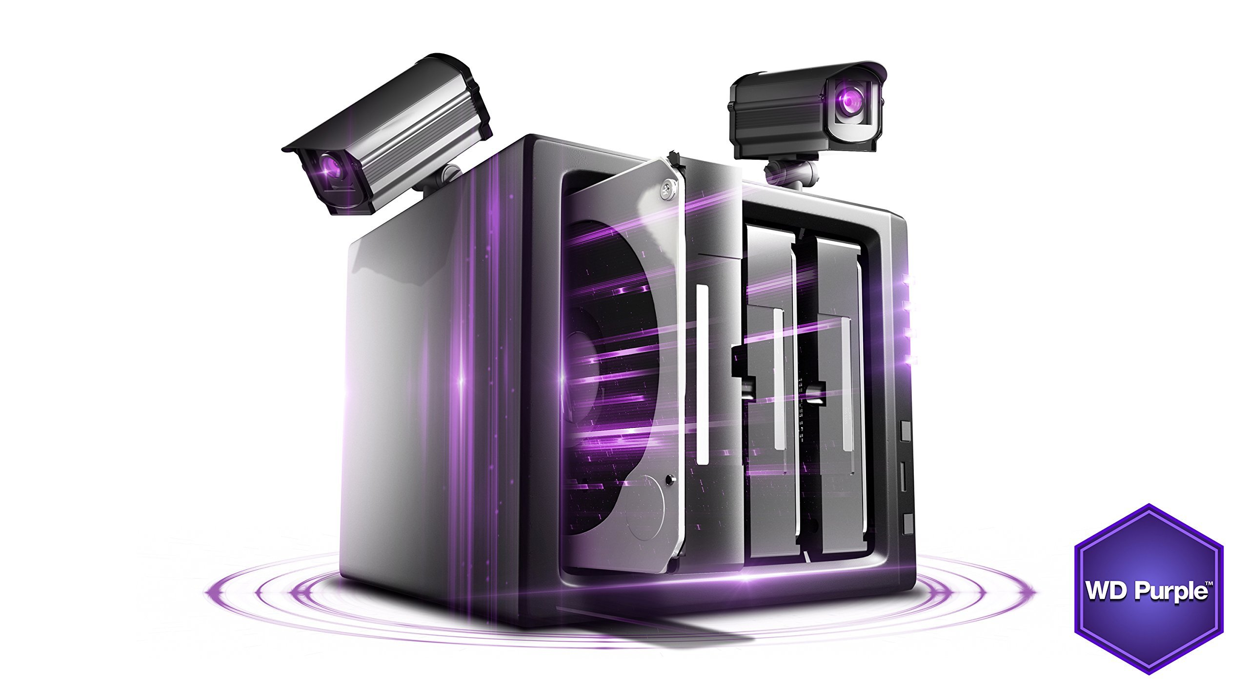 WD Purple 1TB Surveillance Hard Disk Drive - 5400 RPM Class SATA 6 Gb/s 64MB Cache 3.5 Inch - WD10PURX [Old Version] (Certified Refurbished) by Western Digital (Image #5)