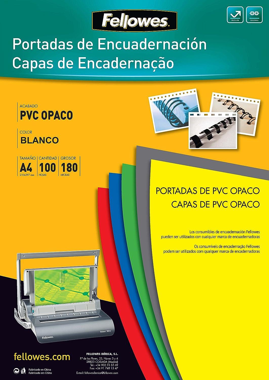 Fellowes 936640 - Copertine en PVC 100 pezzi, nero opaco 5100301