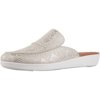 FitFlop Womens Serene Python Print Leather Mule Shoes | Mules & Clogs