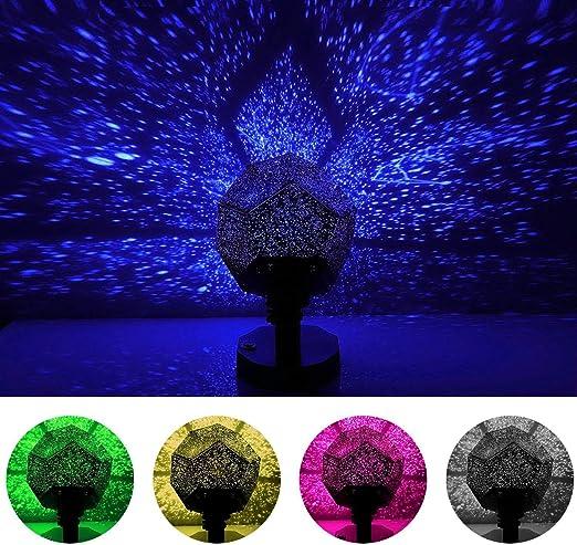 MinGz Star - Proyector de luz nocturna, 12 luces de constelación ...