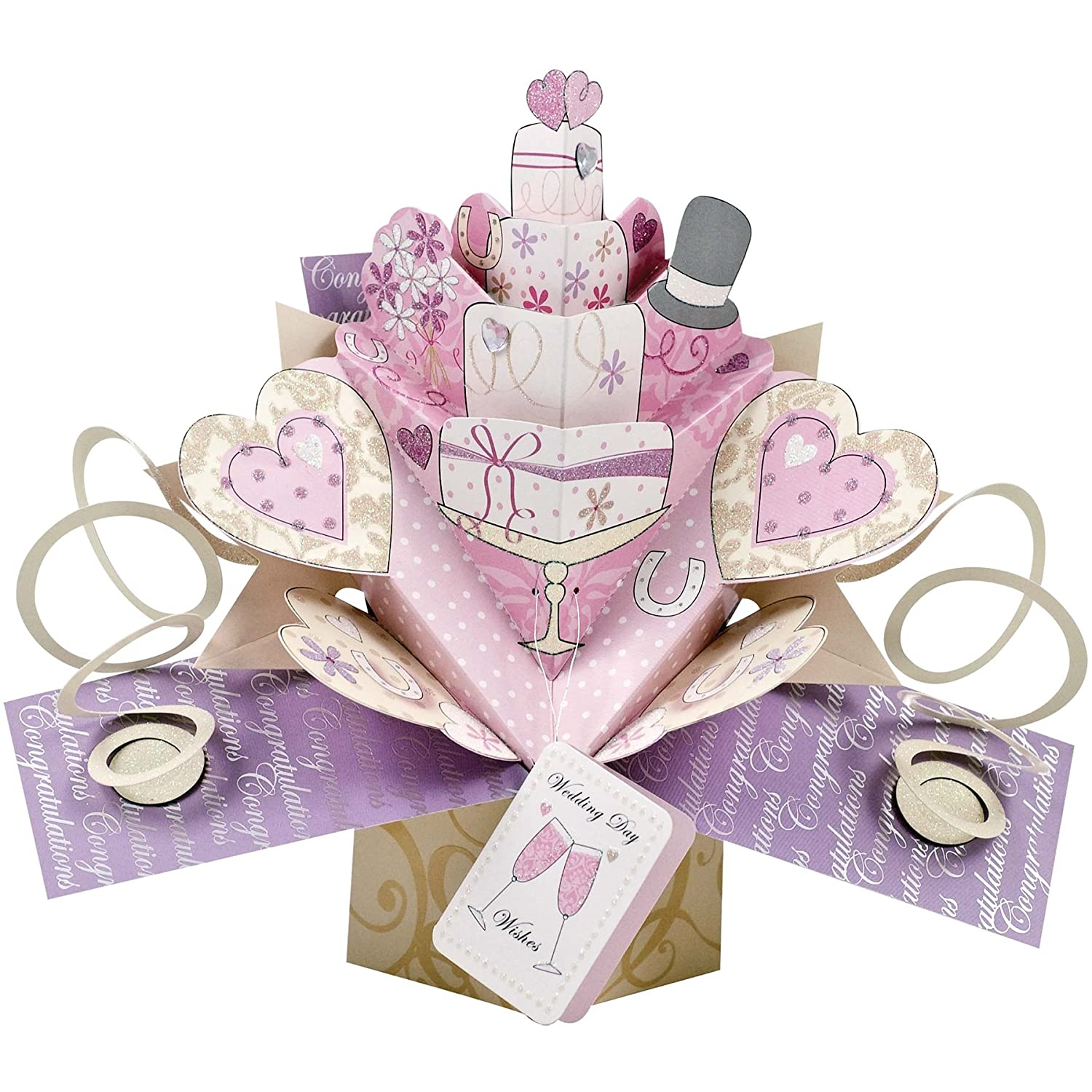 Amazon Pop Up Wedding Cake Card Greeting Cards Office Products