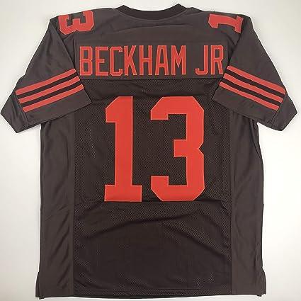 sports shoes dc159 6ace7 Amazon.com: Unsigned Odell Beckham Jr. Cleveland Color Rush ...