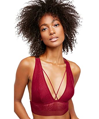 68954b3fd56 Free People Can t Be Tamed Lace Bralette Intimates Wine Womens S at ...