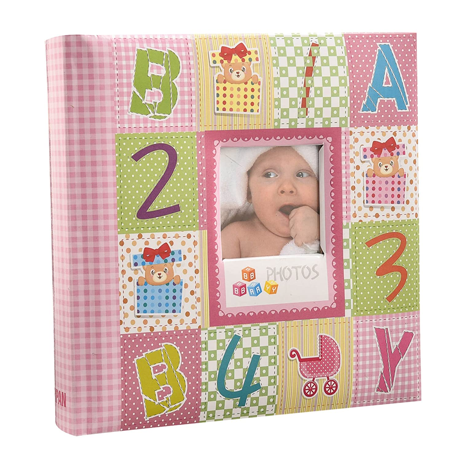 Arpan 10 x 15 cm Baby Photo Album 200 Hold Slip In case Memo Album - Alphabet by ARPAN CLARIS CL-CC200