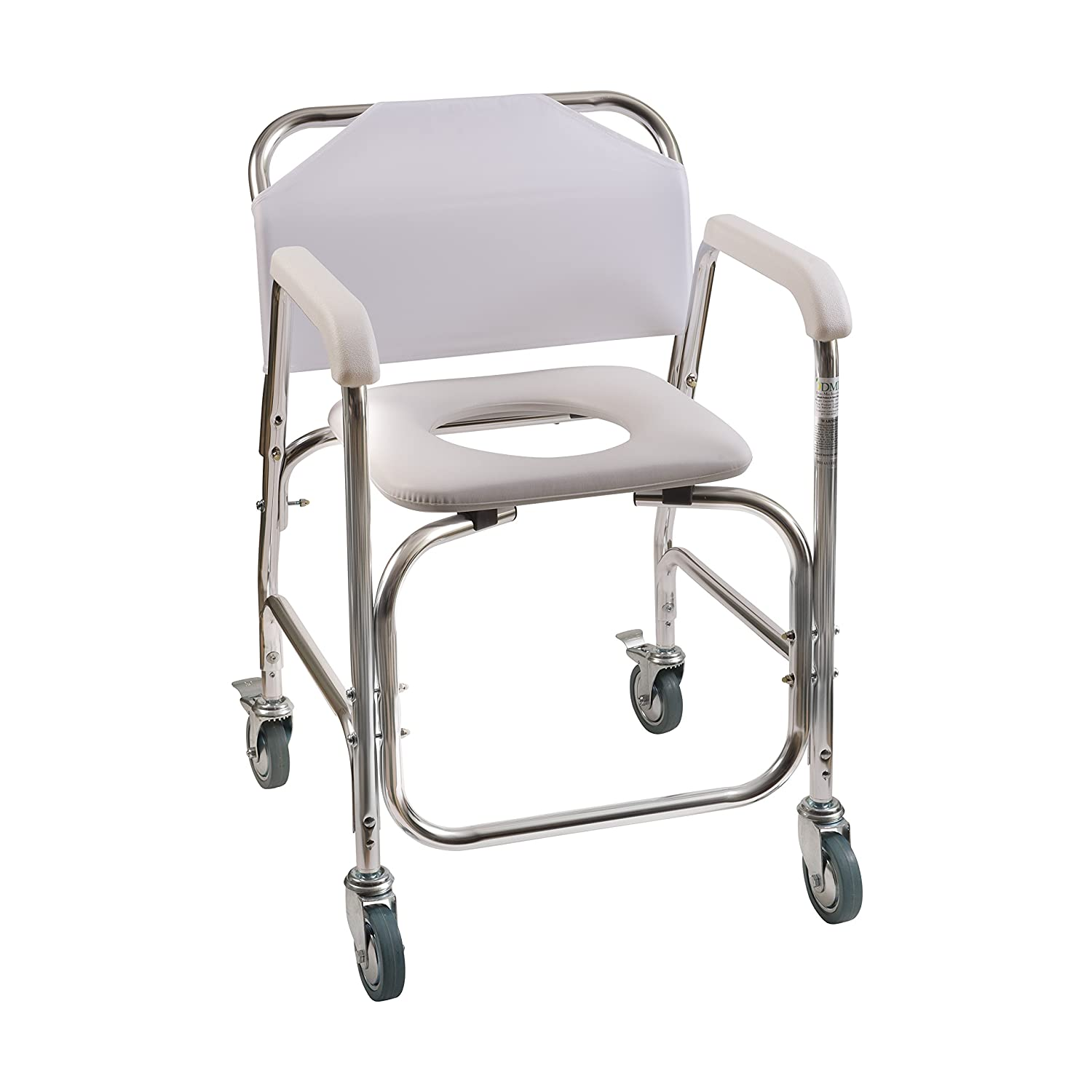 Amazon.com: Duro-Med Shower Chair With Wheels, Commode Chair and ...