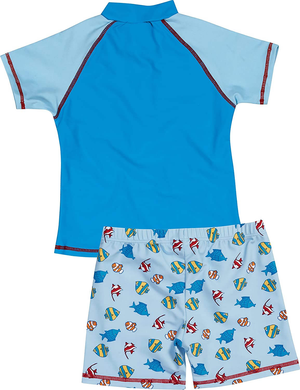 bestehend aus Badeshirt und Badeshorts Playshoes Jungen UV-Schutz Bade-Set Pirateninsel