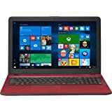 "ASUS R541NA-RB21T-RD Vivo Book Touch HD Laptop, Intel Pentium N4200 Quad Core Processor, 4GB DDR3 RAM, 500GB HDD, Windows 10, 15.6"", Red"