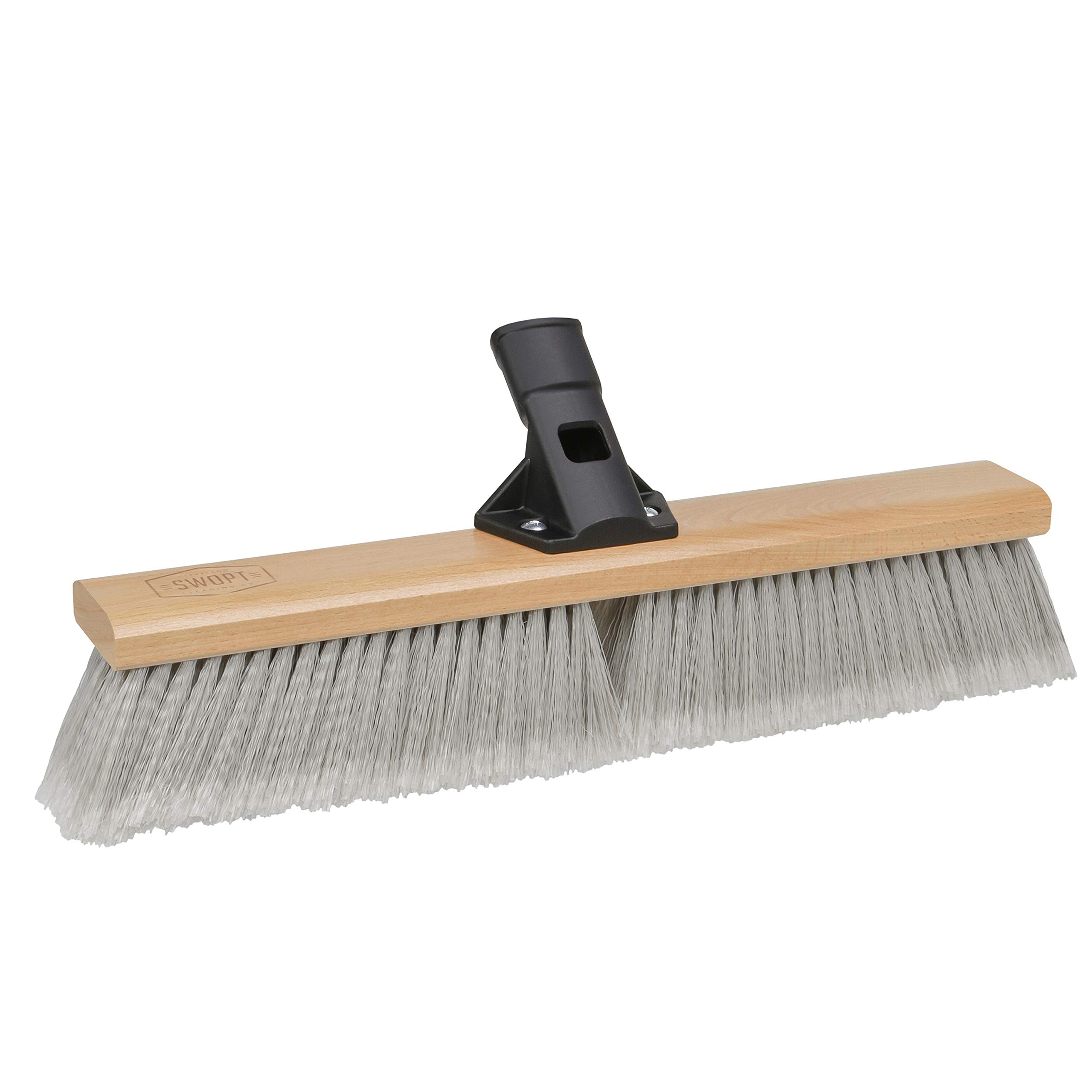"SWOPT 18"" Premium Smooth Surface Push Broom Head – Push Broom for Indoor Use, Picking Up Finer Particles – Interchangeable with Other SWOPT Products for More Efficient Cleaning and Storage, Head Only, Handle Sold Separately, 5115C4"