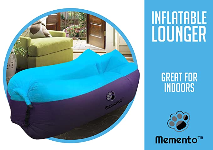 mementotm Original 2 nd generación aire tumbona - más ligero (poliéster) inflable sofá/cama: Amazon.es: Hogar