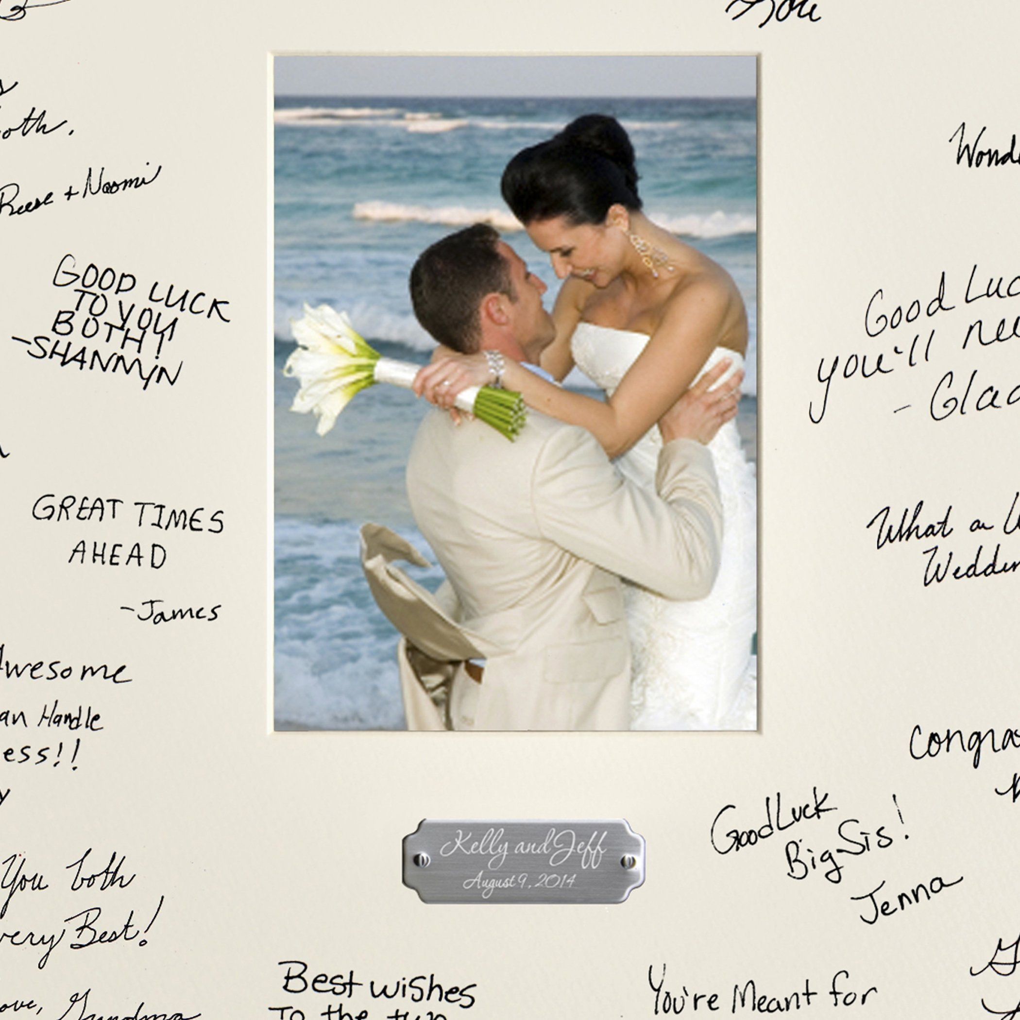 Personalized Signature Frame - Includes Plate - Wedding Guest Book - Signature Frame