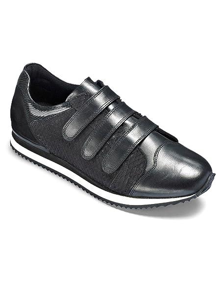 J D Williams FL960 - Zapatillas de Piel Para Mujer, Color Negro, Talla 38: Amazon.es: Zapatos y complementos