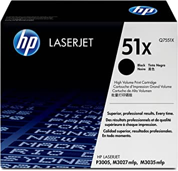 2 Pack Smart Print Supplies Compatible 51X Q7551X MICR Black High Yield Toner Cartridge Replacement for HP Laserjet P3005 M3035 Printers 13,000 Pages