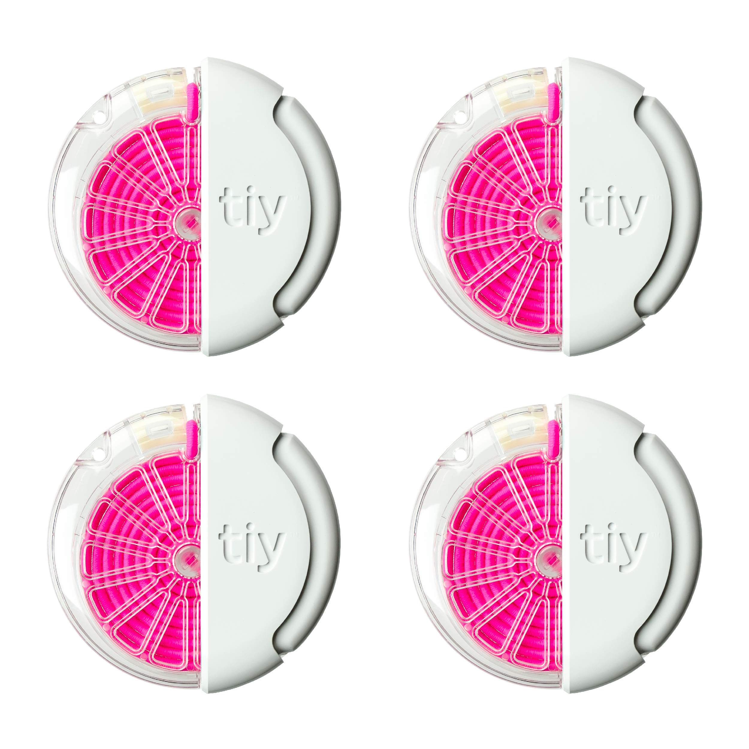 TIY Pro Customizable Elastic Hair Tie, 4-Pack, Electric Pink by TIY TIE-IT-YOURSELF