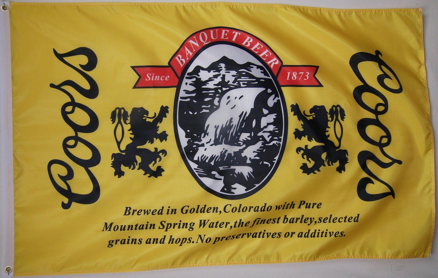 Nuge Coors Banquet Beer Flag 3' X 5' Beverage Banner
