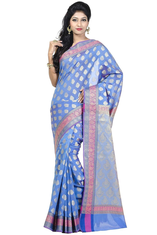 Chandrakala Women's Banarasi Cotton Silk Saree 1147