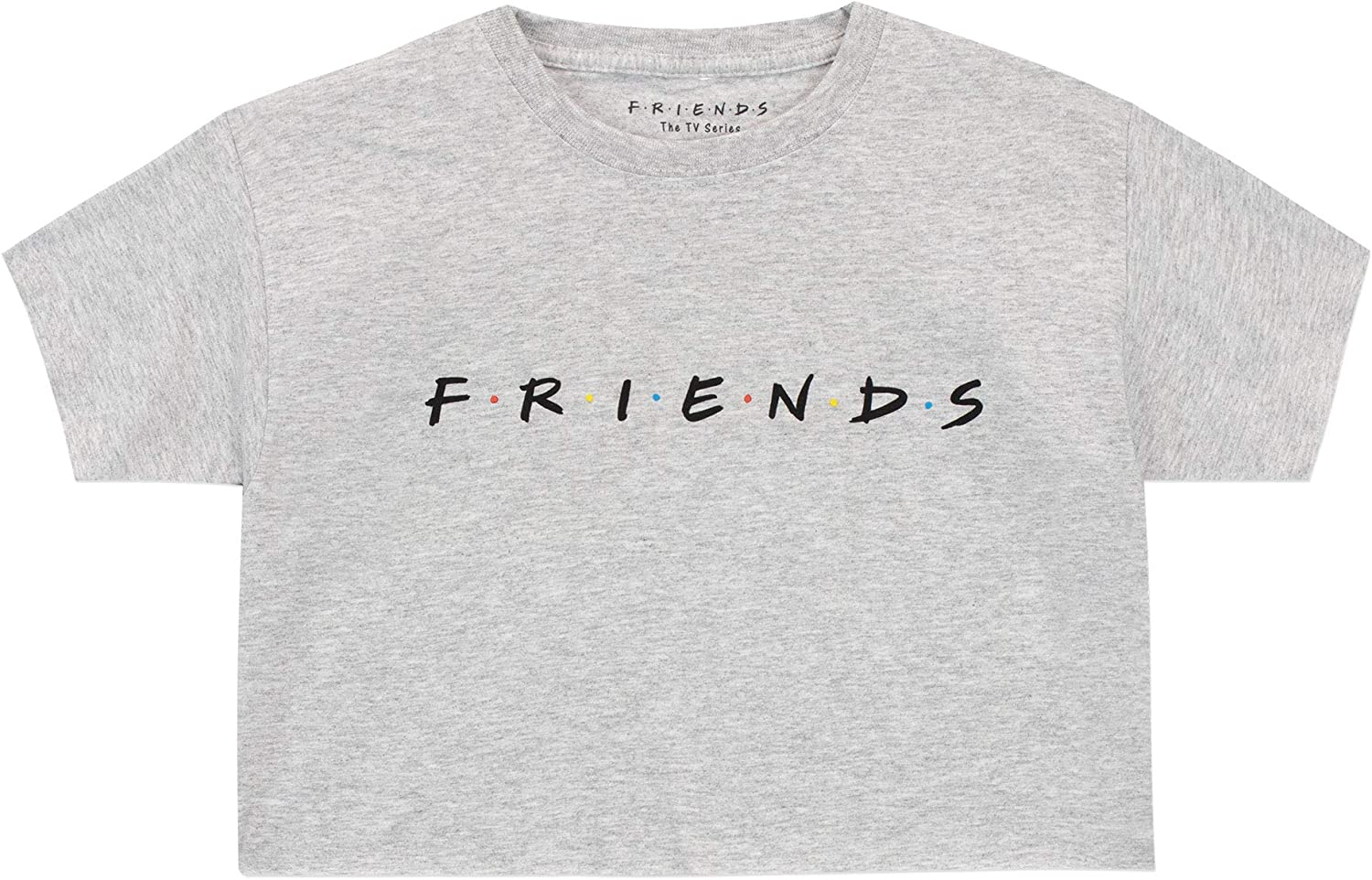 Friends Girls Crop T-Shirt Grey