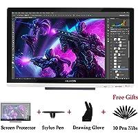 HUION Kamvas GT-220 V2 21,5 Zoll 8192 Druckstufen Grafikzeichentablett Monitor 21,5 Zoll 1 920 x 1 080 HD IPS Stift-Display für Windows und Mac-Silber … (Silber)