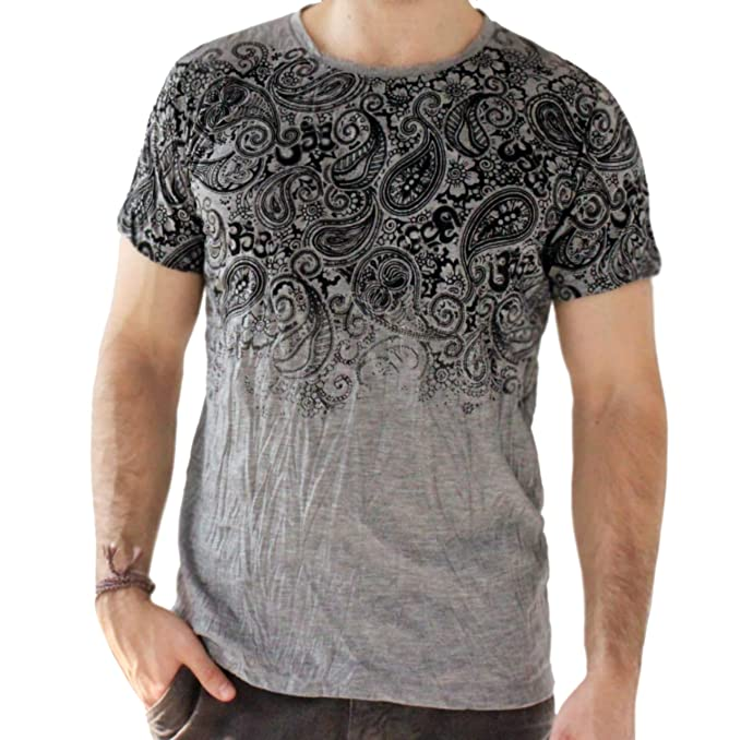 Yoga Shirts – Omtimistic Hombre Casual Tribal Graphic tee