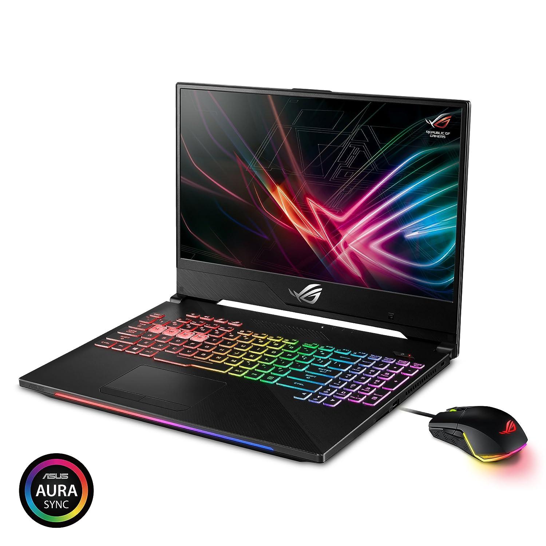"GL504GM-DS74 ASUS ROG Strix Hero II Gaming Laptop Intel Core i7-8750H Processor 16GB DDR4 1TB HDD RGB NVIDIA GeForce GTX 1060 6GB GDDR5 Windows 10 Home 256GB PCIe SSD 15.6/"" 144Hz IPS Type"