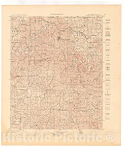 Historic Pictoric Map : Eureka Springs-Harrison Folio, Arkansas-Missouri, 1916 Cartography Wall Art : 20in x 24in
